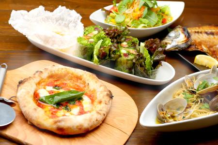 旬の食材とオリジナルの料理